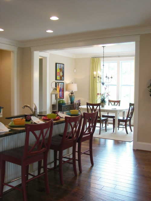 A dining area off of the kitchen.