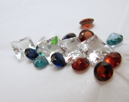 Gemstones in all types of colors and cuts.