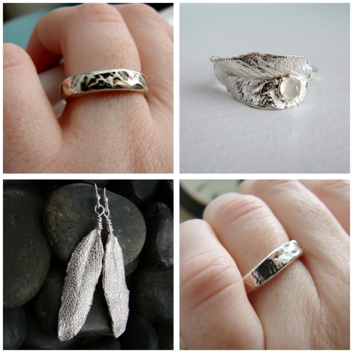 Fine silver, organic inspired leaf jewelry: photographed by Jessica Farber from One Loom Studio.